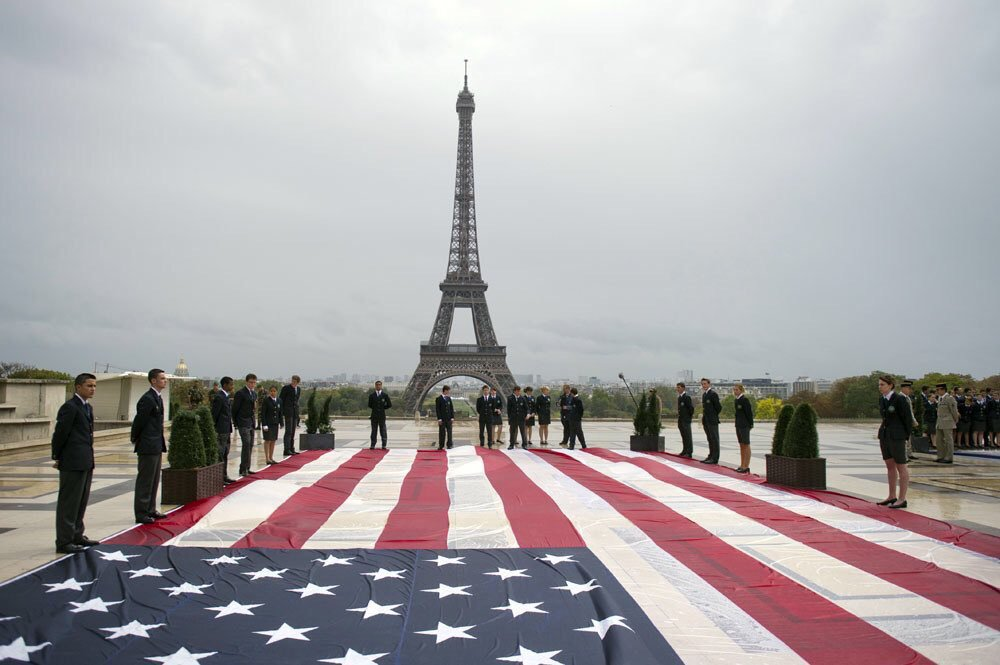 This was #paris after 9/11 - we stand with you like you stand with others! - #thinkingofparis #ParisAttacks