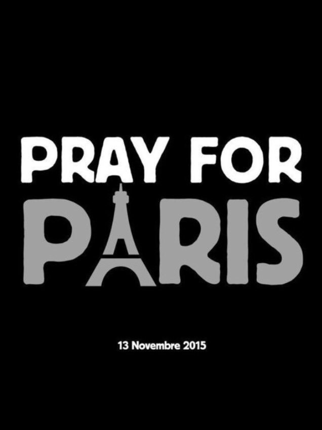 Thoughts go out to everyone in Paris. It's heart breaking.  #PrayForParis https://t.co/ivkyG8R6YY