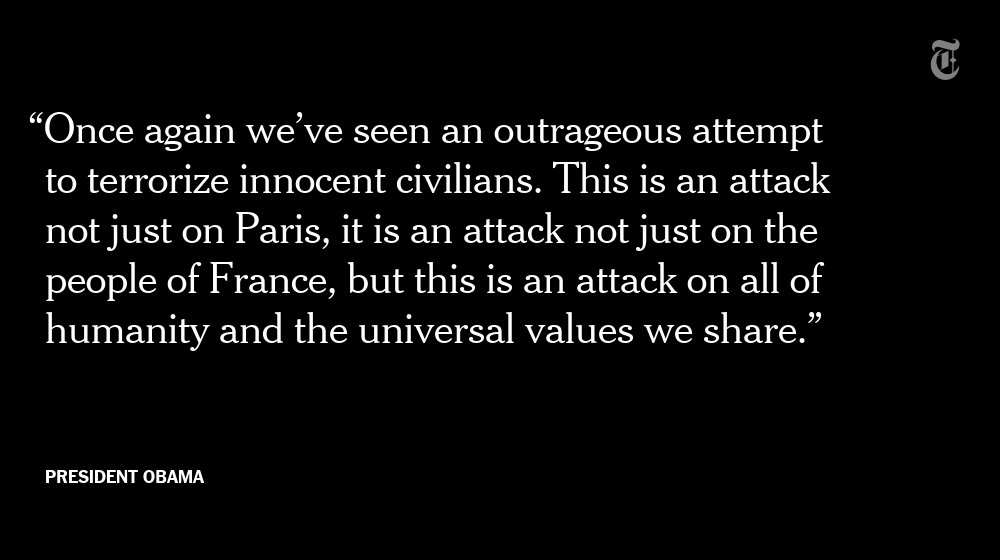 President Obama on Paris: 'An attack on all of humanity' https://t.co/J4EsLVWZvf