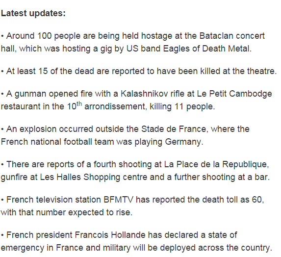 Here's what we know so far about the Paris attacks. LATEST UPDATES: https://t.co/pn6pL6aex9 #9News https://t.co/zNI37XbIKM