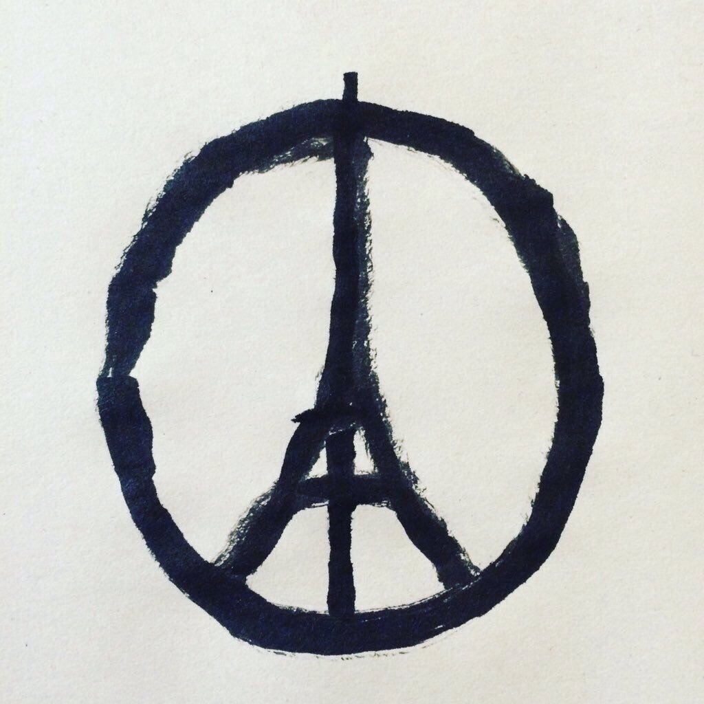 Liberté. Egalité. Fraternité. My thoughts are with you Paris. https://t.co/2RAP5fGWem