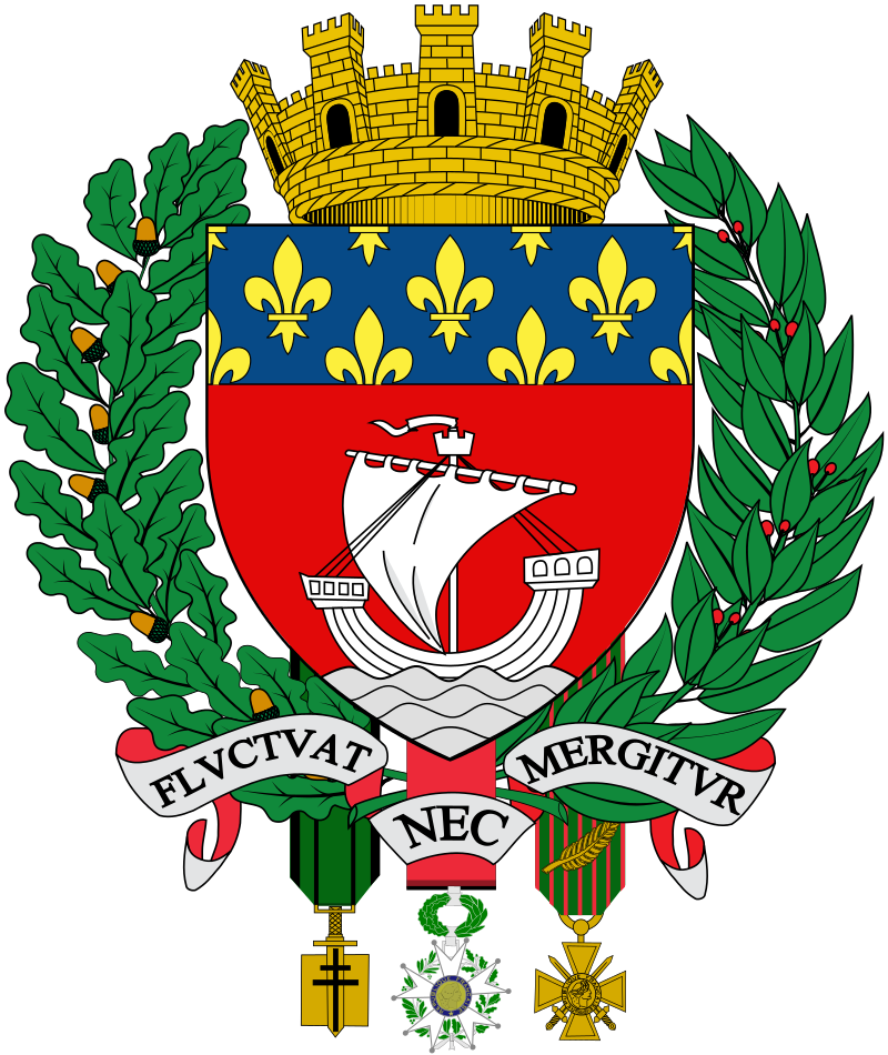 """The Paris coat of arms says """"Fluctuat nec mergitur"""". It means """"She is tossed by the waves, but does not sink"""". https://t.co/ns1i2SnGHH"""