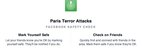 Paris Terror Attacks sono basito dalla inquietante velocità di FB… https://t.co/DsSmqeIRD1
