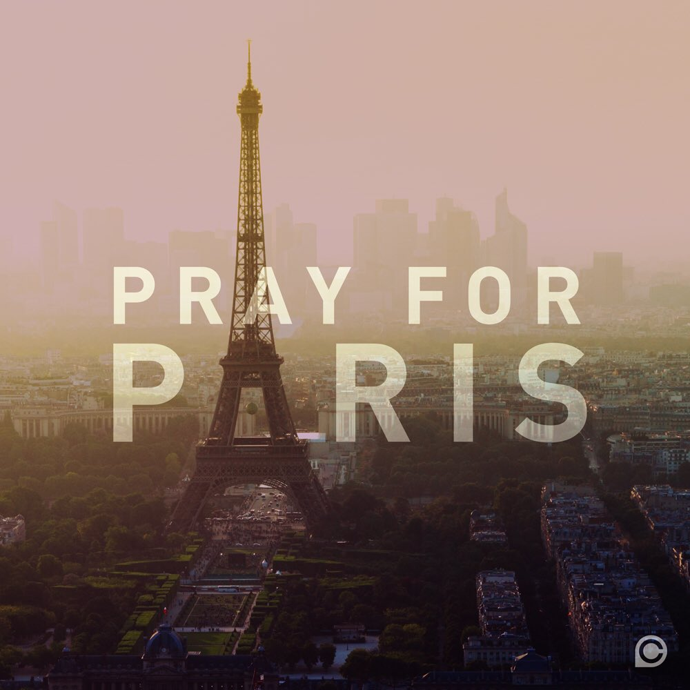 Our hearts are with you, Paris. Praying. #PrayForParis https://t.co/2leuzQtn5Y