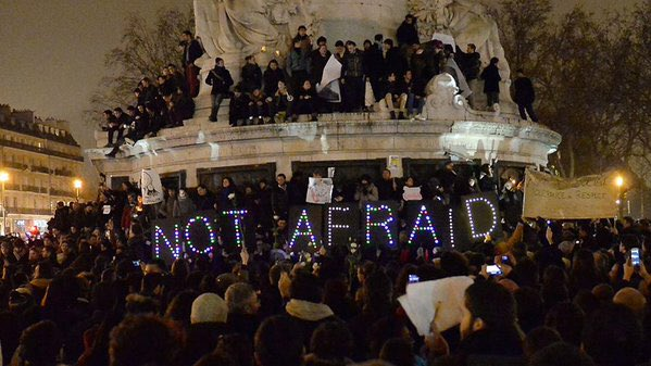 Paris, Not Afraid. https://t.co/0XEtD9urtg