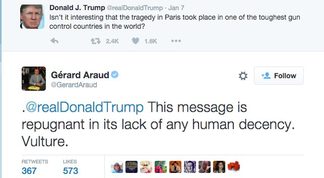 The French Ambassador to the U.S. Responds to a Trump tweet regarding #ParisAttacks  @NickKristof https://t.co/BdJCzbwB7l