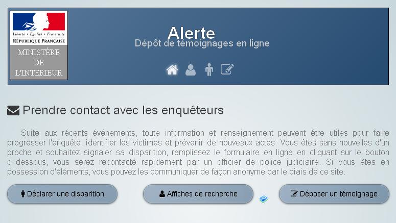 #Paris Sans nouvelles d'un proche ? Le Ministère de l'Intérieur met en place un site ► https://t.co/vI5qTXgUYL