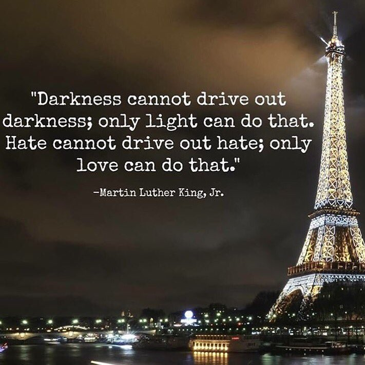 Thoughts and prayers with the people of Paris