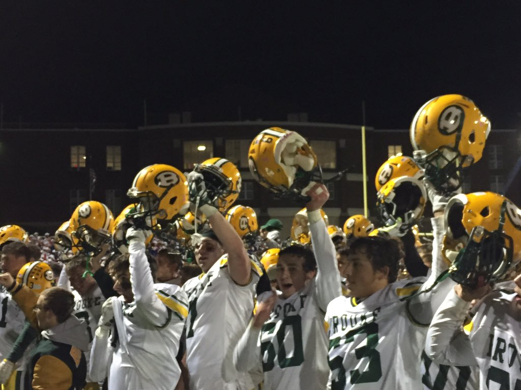 Brooke Bruins sing their alma mater after the playoff victory #wvprepfb https://t.co/Vev7EcW21K