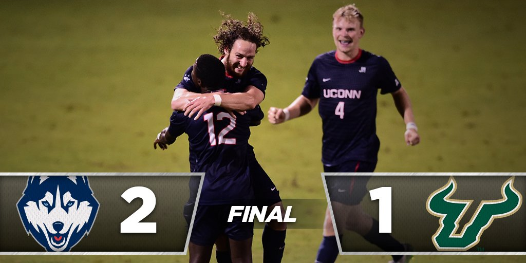 Headed to the title game! #UConn beats USF, 2-1, on its home field to advance to the @American_MSoc championship! https://t.co/SsncIODHTH