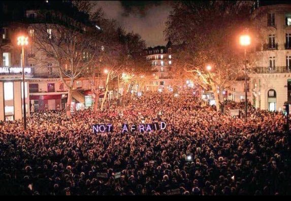 Paris is Strength & Love. The humanity seen here decimates the extremist bs goals. Thanku Parisians 4 being U. #P4P https://t.co/XwOHP8YzCk