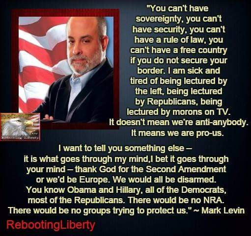 MT @angelacarwile: Levin on #ParisAttack: Seal Borders, Thank God for the #2A. #RebootLiberty https://t.co/tDQJqKUnqv #COSProject #PJNET
