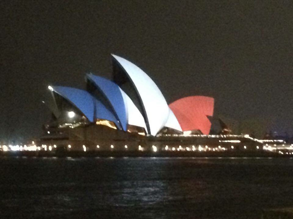 Sending love from Sydney to Paris photo by Francis Bichon https://t.co/u5THzw4E8C