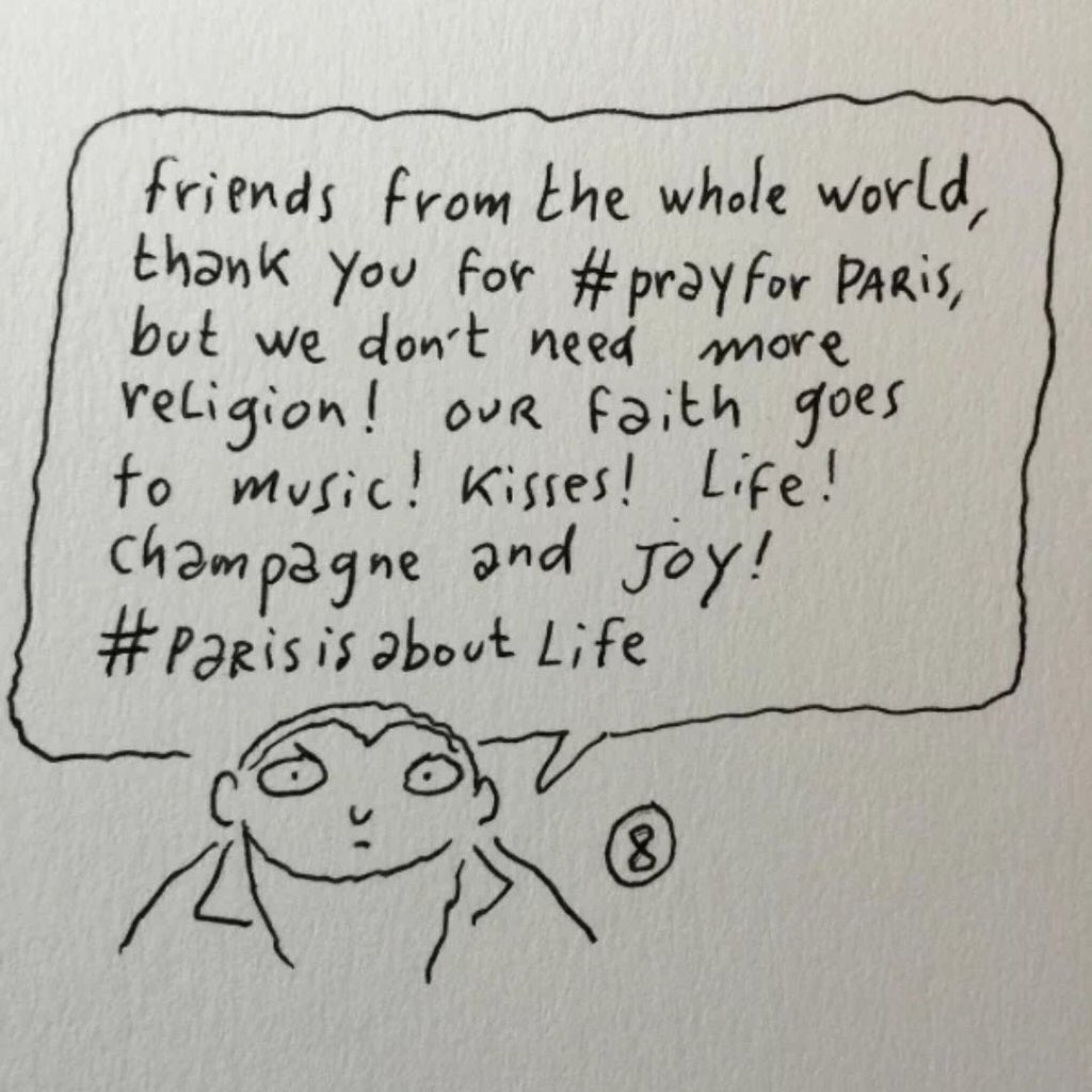 #ParisIsAboutLife and even such a tragedy will not take away life of Paris! https://t.co/QqgxSXOPfW