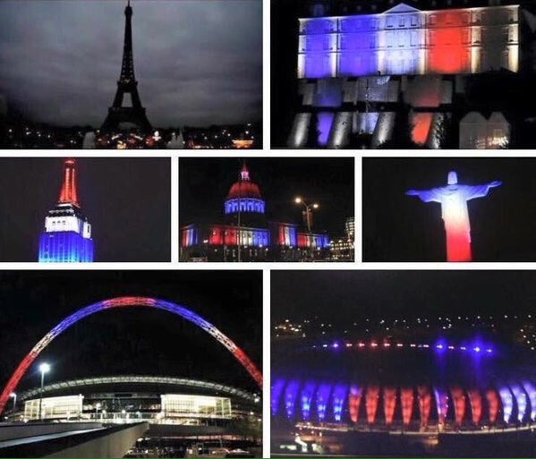 The Eiffel goes dark, but the world lights up...#Paris we stand with you. ❤️ https://t.co/TRB4AgGq7o
