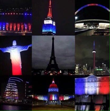 """""""when the city of light goes dark, the rest of the world lights up for them"""" ©  #PrayForParis https://t.co/BrKeK2nckQ"""