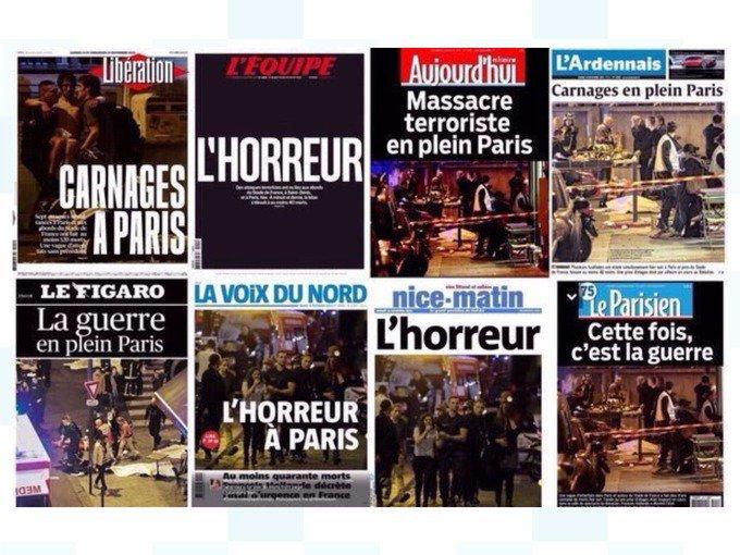 Le prime pagine dei quotidiani francesi #Parigi https://t.co/nYrIzPm3FB
