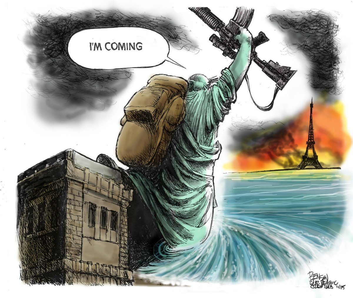 The Arizona Republic's Steve Benson on the Paris terror attacks. https://t.co/neURbwsFtu