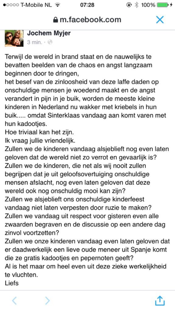 Ook namens mij graag! RT @jochemmyjer: Voor mensen zonder Facebook: