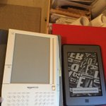 Unpacking some boxes, came across this ancient Kindle (shown here next to a pre-Fire version) https://t.co/6FkcaGVvlV