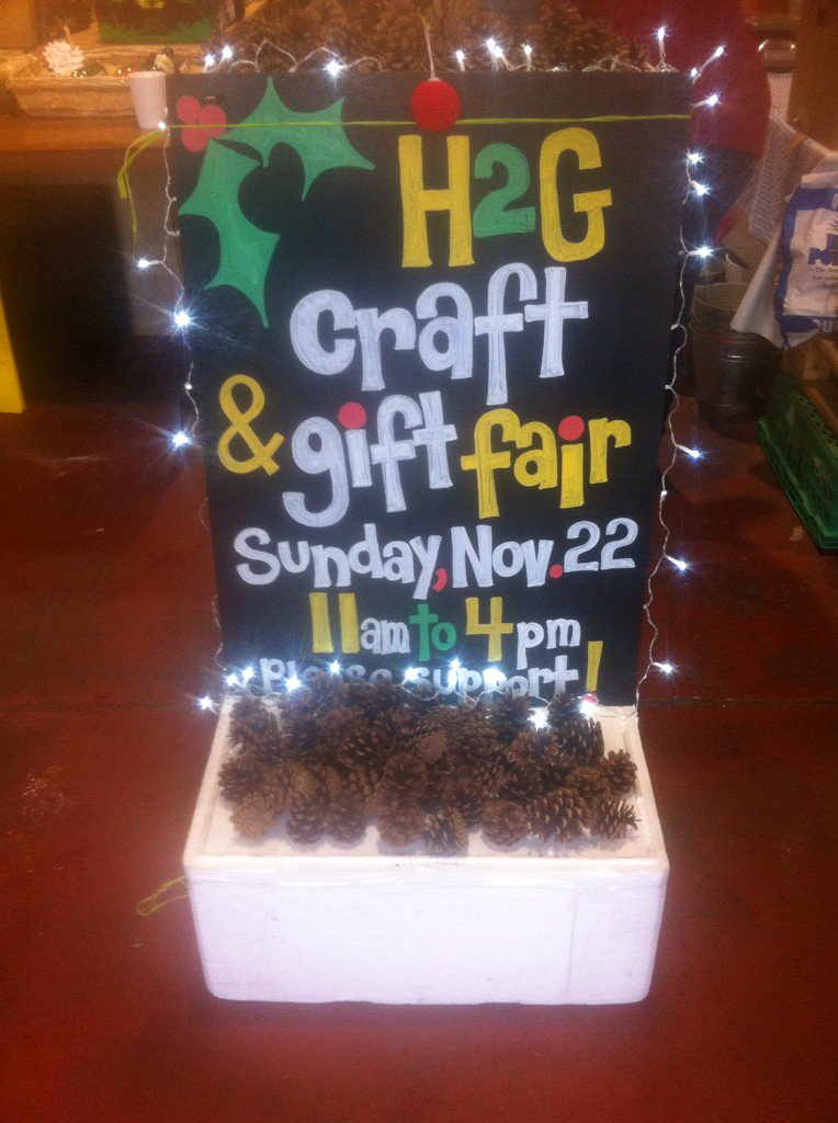 All RTs much appreciated to help spread the word! H2G Craft n Gift Fair SUN 22nd, 11-4 at H2G Market...No entry fee! https://t.co/11fZy1ynoK