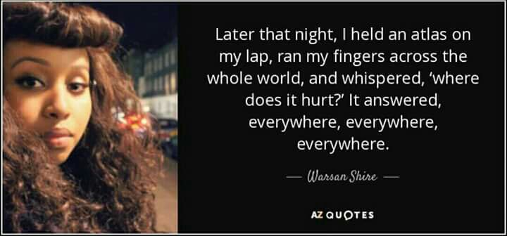 I looked to Somali poet @warsan_shire to help me today. This expresses how I feel more eloquently than I am able > https://t.co/5xmvffdyal