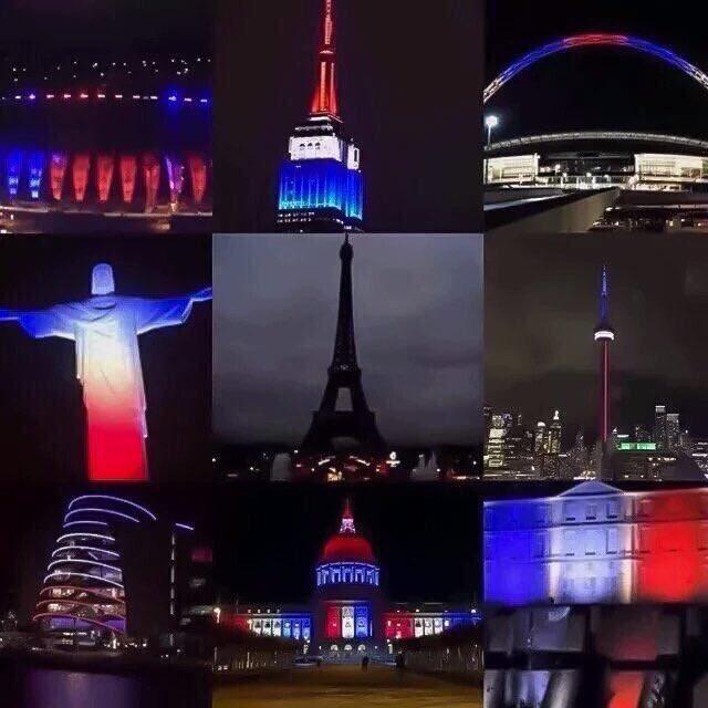 Je pleure pour #Paris - Nous sommes tous la France.  Restez fortes, nous surmonterons ensemble.  #parisattentats https://t.co/c6aHRJF1vX