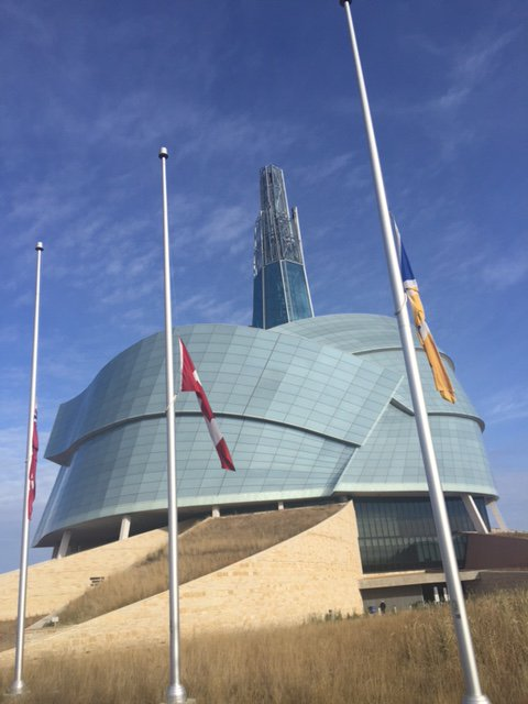 Our flags are flying at half mast out of respect for those killed in yesterday's attacks. #ParisAttacks https://t.co/6xuCBVjqpt
