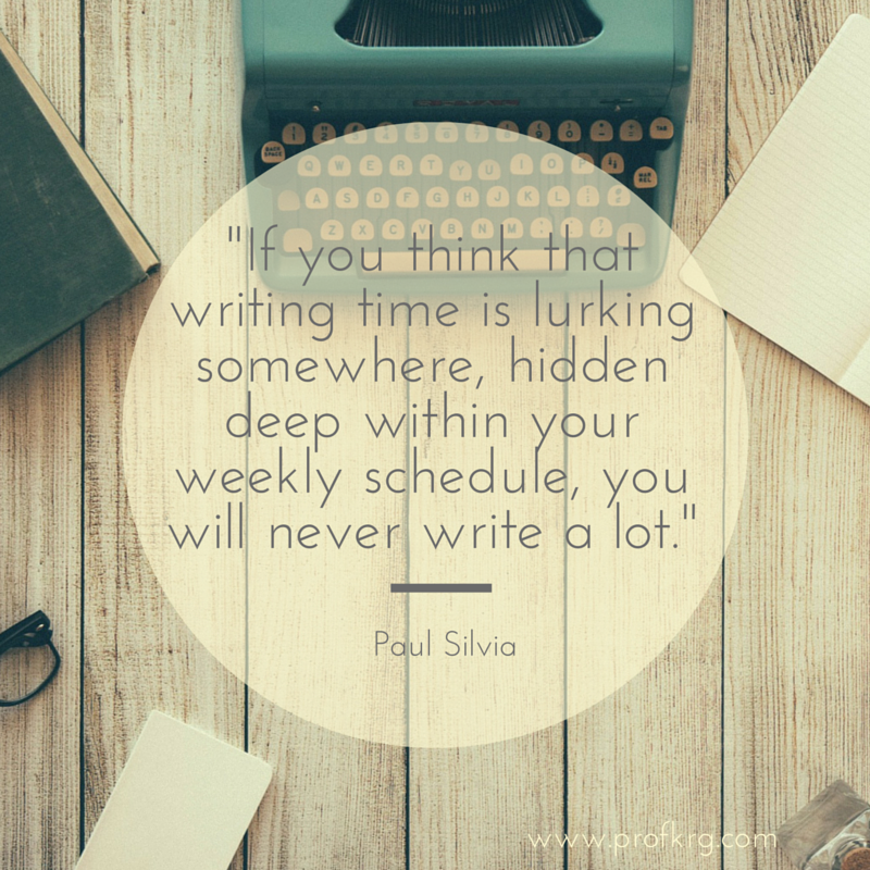 You must make time to write. Writing time won't just appear. https://t.co/BxrJflI9jj