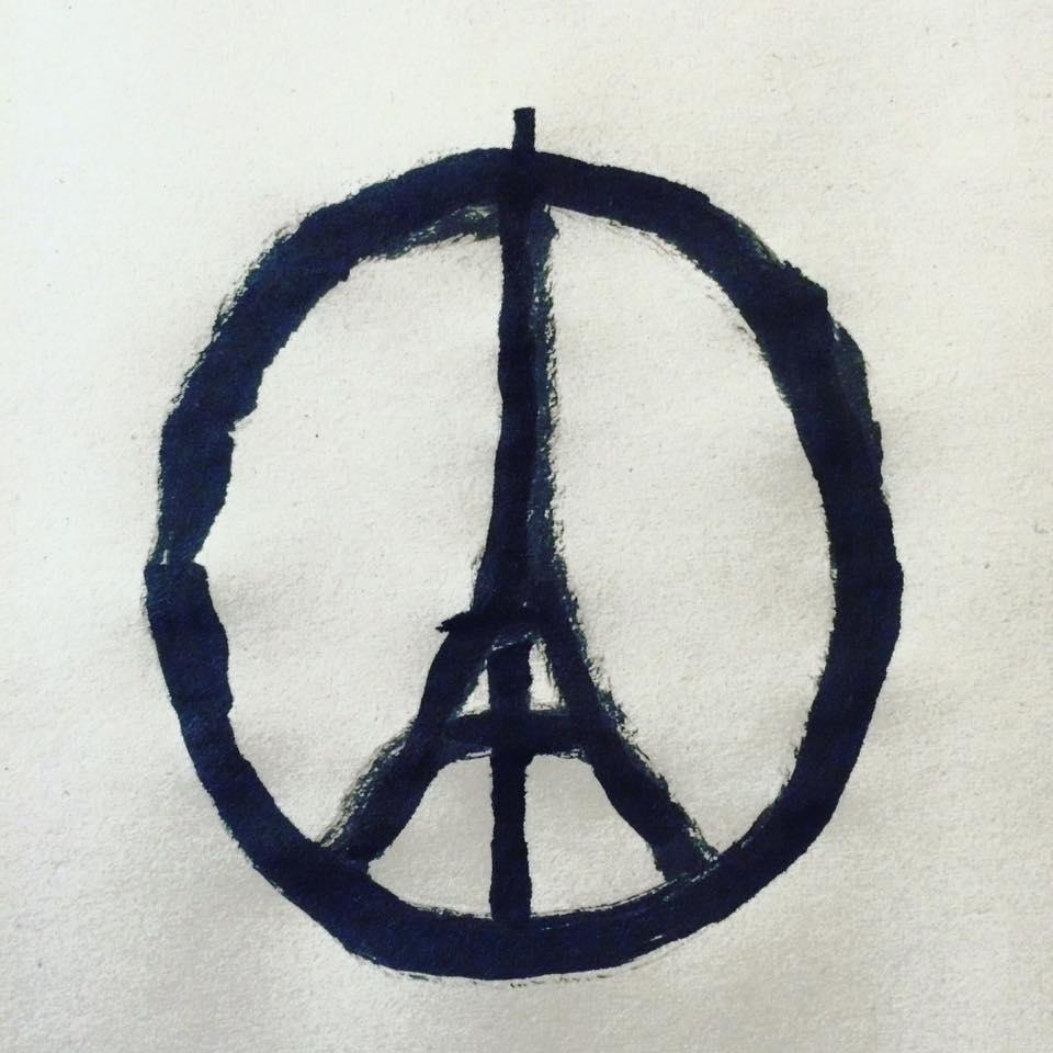 .@jean_jullien's artwork has become a symbol of unity for Paris. He spoke to @CNN. https://t.co/2X61yBE9U9 https://t.co/r6tnj0gy3b