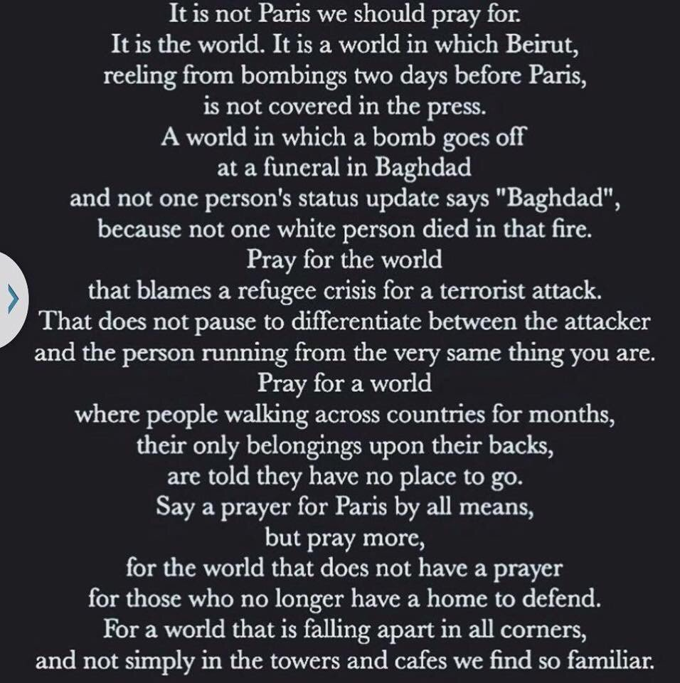 【Pray for the World】Don't forget Muslims also pray for the world peace(even after Charlie hebdo attack and now) https://t.co/0g5DGMJKWw