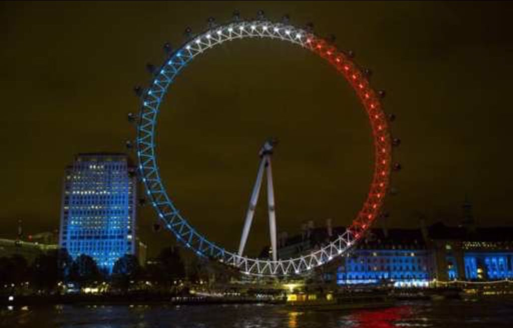 Lovely to see the London Eye tonight  #standtogether