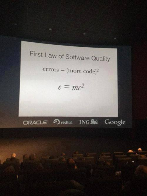 First law of software quality #joke #humor https://t.co/u3cwCPpB6f