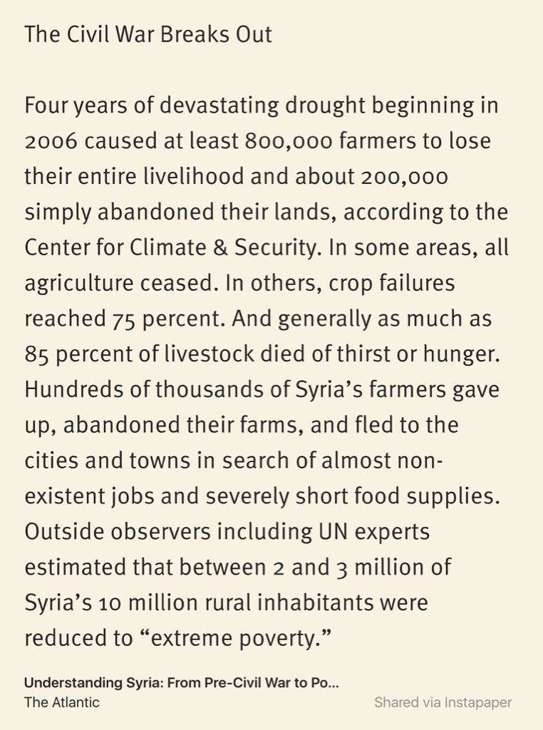 Didnt appreciate that the Syrian civil war was triggered by climate change  https://t.co/oFtPYOe9Fw https://t.co/bf1X5K7u36