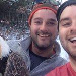 Canadian brothers rescue bald eagle. Take selfie. Set it free. Nice. https://t.co/hS8aawlK3z https://t.co/Hd6UN4EN0b