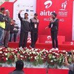 Delhi CM .@ArvindKejriwal and Dy CM @msisodia at Airtel Delhi Half Marathon - today. https://t.co/llmdtvBSot
