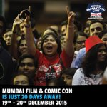 #Mumbai #ComicCon Is Just 20 Days Away! Visit Citys Biggest Pop-Culture Event. Tix- https://t.co/LEklSKyo4X https://t.co/LwW3QDuGR5