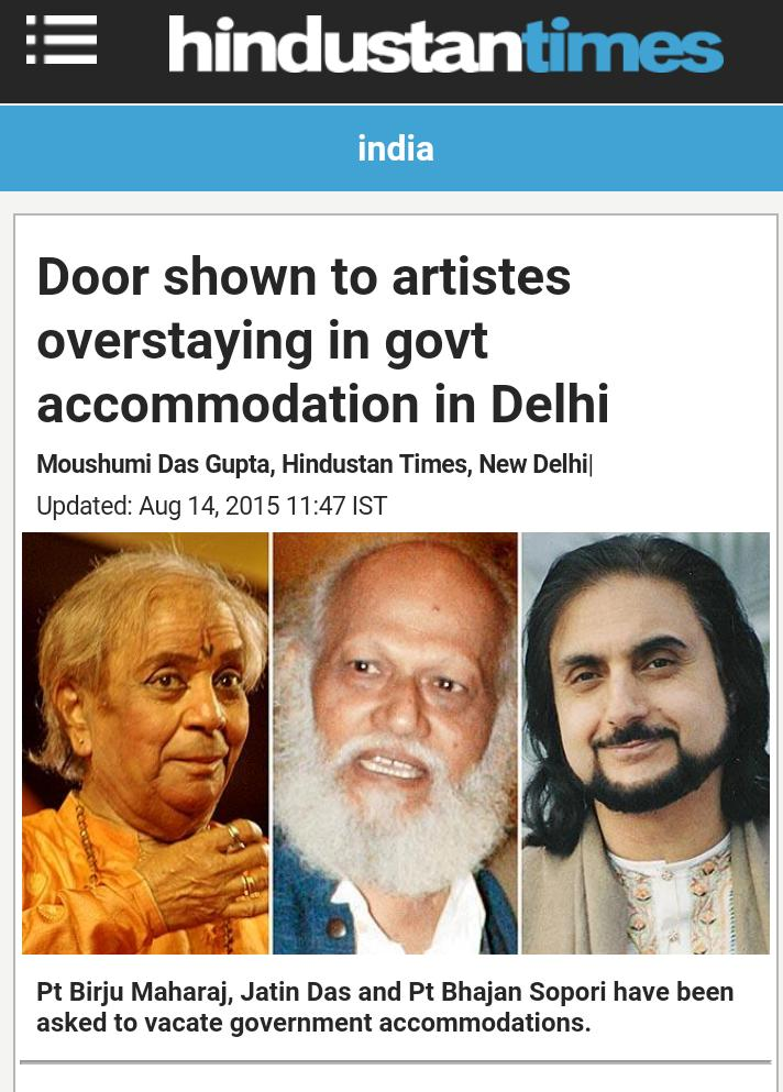 Jatin Das, father of Nandita Das, was told to vacate govt bungalow. He stayed in it for 26yrs, was allotted for 3yrs https://t.co/INqa9OP8Oa