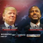 Weve got 2 presidential candidates on @meetthepress this Sunday, @RealBenCarson from Jordan & @realDonaldTrump. https://t.co/tDI1eLdo7O