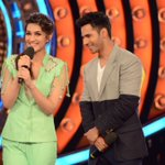 Super confident @Varun_dvn and @kritisanon with the towering superstar @BeingSalmanKhan #BiggBoss9 https://t.co/Mu5chDHOoN
