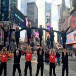 University of Cincinnati Cheerleading Team hitting some Lib Walls @TimesSquareNYC @PrezOno @uofcincy @GoBEARCATS https://t.co/cQBgpXnHhJ