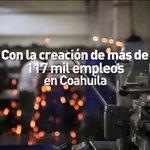 En 4 años de Gobierno se han creado de más de 117 mil empleos en Coahuila. ¡En #Coahuila cumplimos! #4oInforme https://t.co/eel7sVg8ws