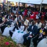 Couples taking positions to be wedded at Munyonyo. @Pontifex will preside over #PopeInUganda. Photos: D. Bukenya https://t.co/n1vaENq8e0