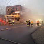 #nb Up to the minute photo from Hampton. Main street to remain closed for some time. Pizza Delight building lost. https://t.co/UMkCxCHikI