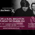 Adv tix running low for Brighton Dec 5th Hope & Ruin ft Otherkin, The Rapports + White Room. £3adv. DJs till late. https://t.co/ShSFkGzJik