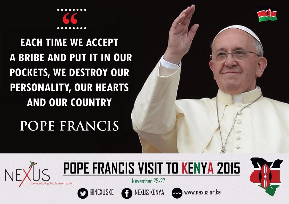 Your message @Pontifex was great. #KwaheriPope #MunguAibarikiKenya https://t.co/5oqtXLOXlU
