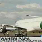 Pope Francis leaves for Entebe aboard Alitalia #PopeInKenya #PopeInUganda https://t.co/B7cbIwLT4z
