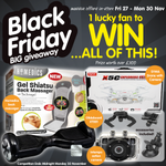 FLW & RT to be in with a chance of winning ALL OF THIS! #Comp ends Midnight 30 Nov. #winit #BlackFriday #BMBlackFri https://t.co/c6aU6AwtHM
