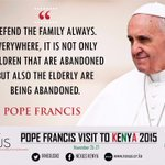 Thank you @Pontifex for the blessings you shared with the great family of Kenya #KwaheriPope #MunguAibarikiKenya https://t.co/ZP6ellPU1f