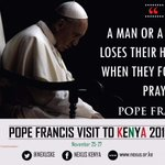 The message of prayer from @Pontifex was simple and profound #KwaheriPope #MunguAibarikiKenya https://t.co/NrR1UpLuY8